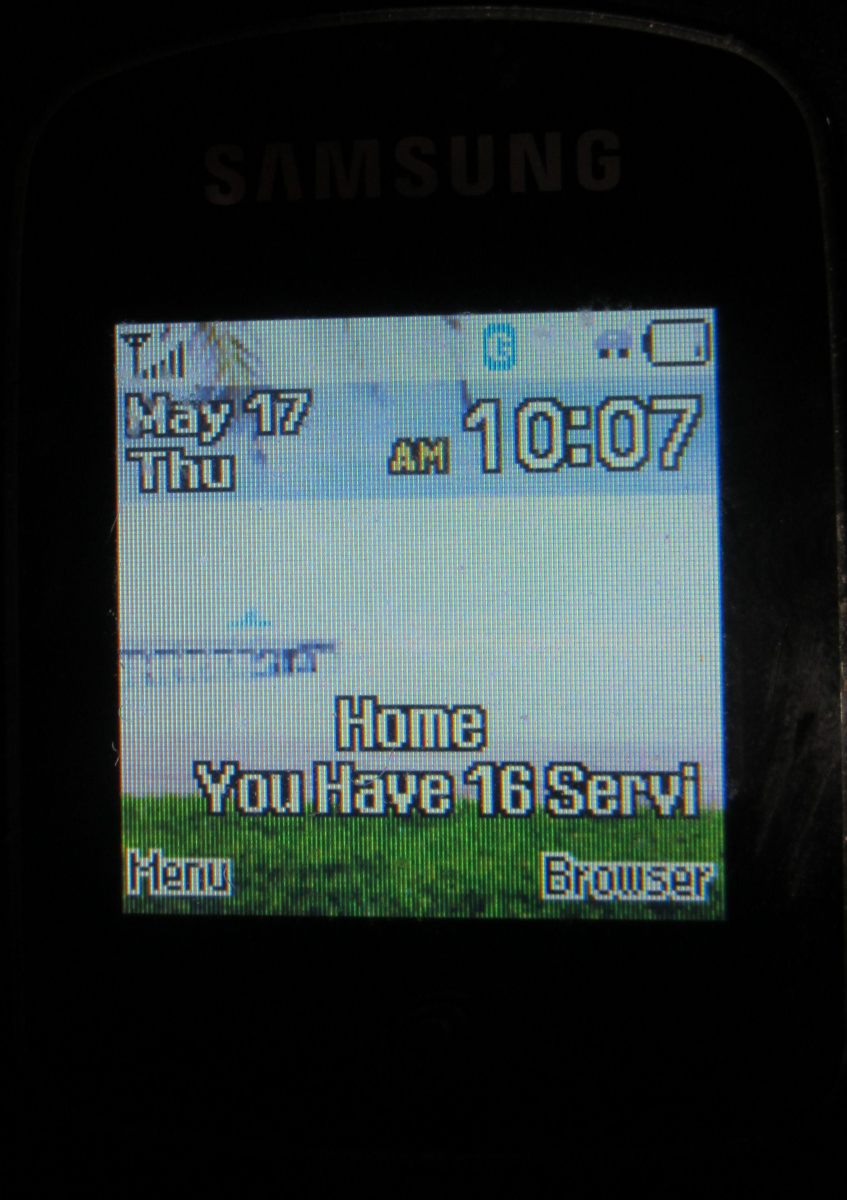 The screen is small but readable.