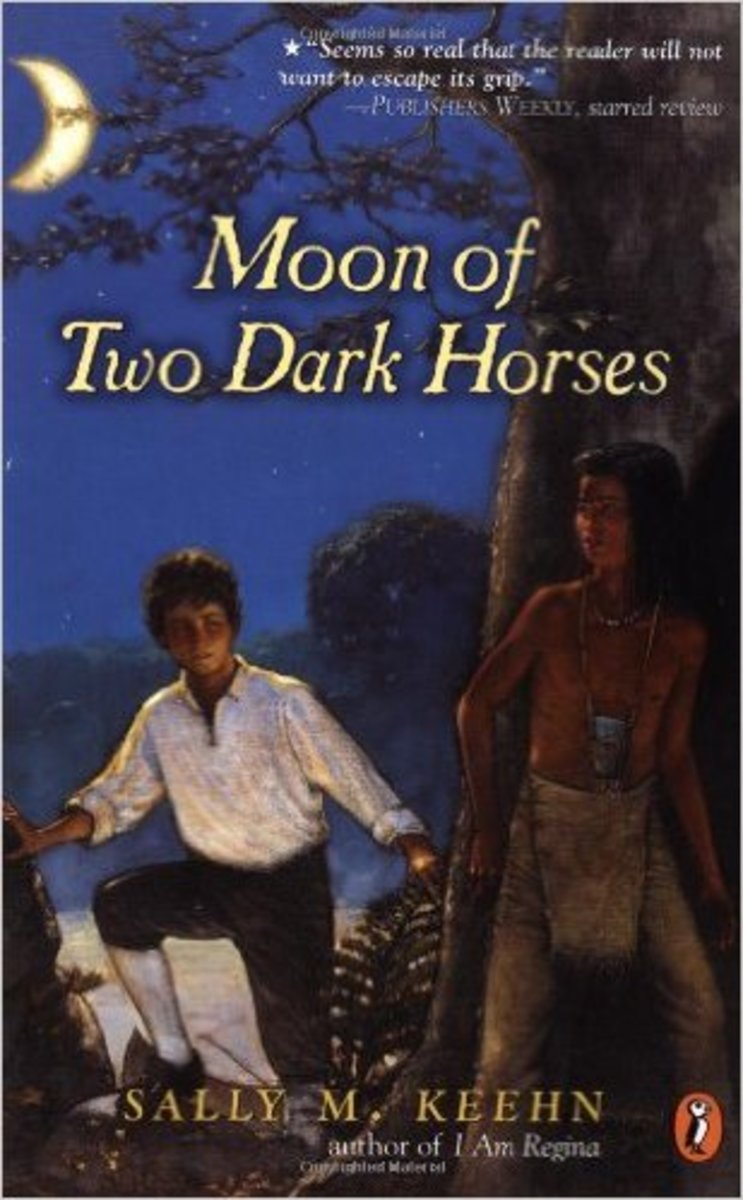 Moon of Two Dark Horses by Sally M. Keehn - Image credit: amazon.com
