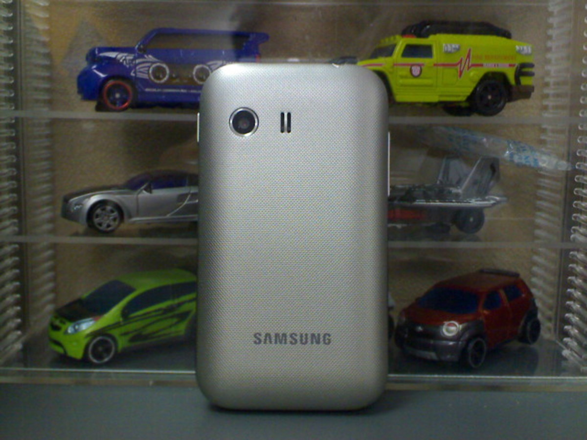 Back view of the Samsung Galaxy Young / Y / Totoro