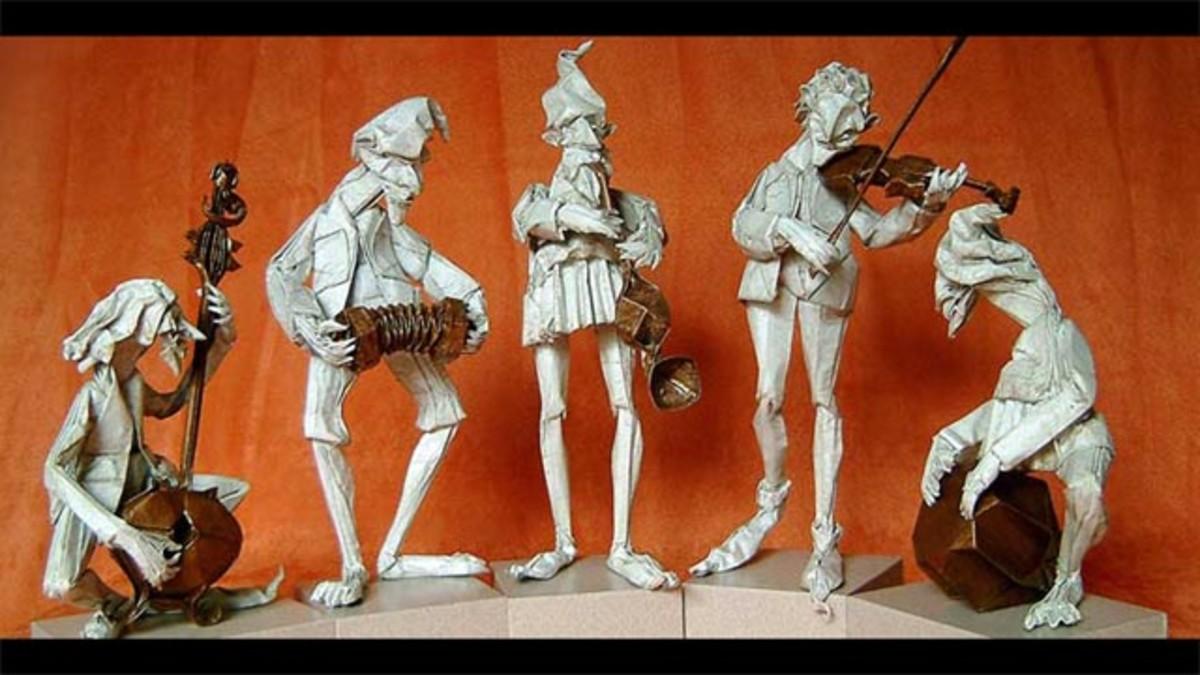 Origami Five Musicians