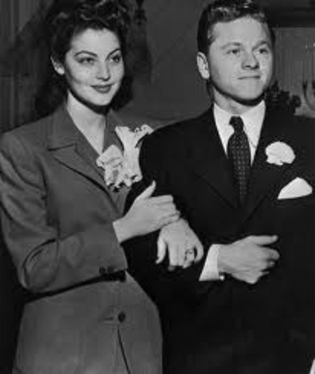 Mickey Rooney with Ava Gardner, the first of his eight wives
