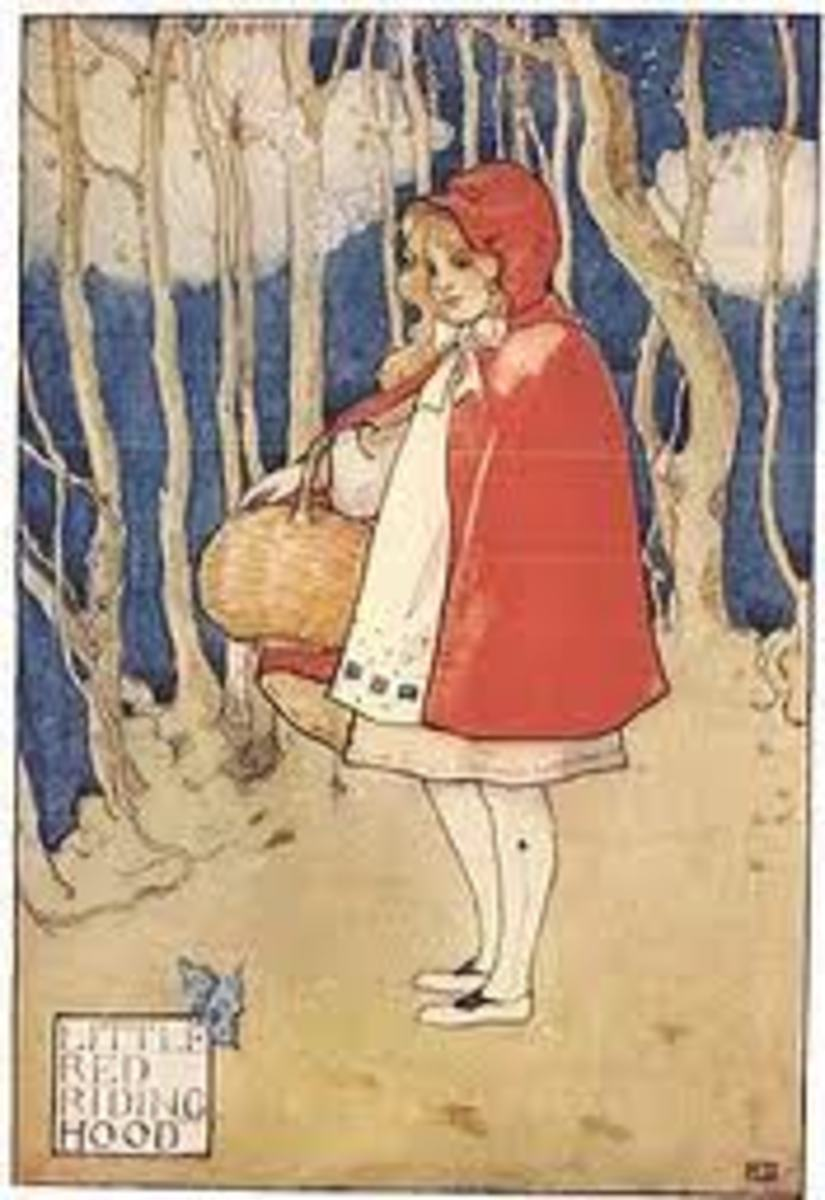 Red Riding Hood as a child
