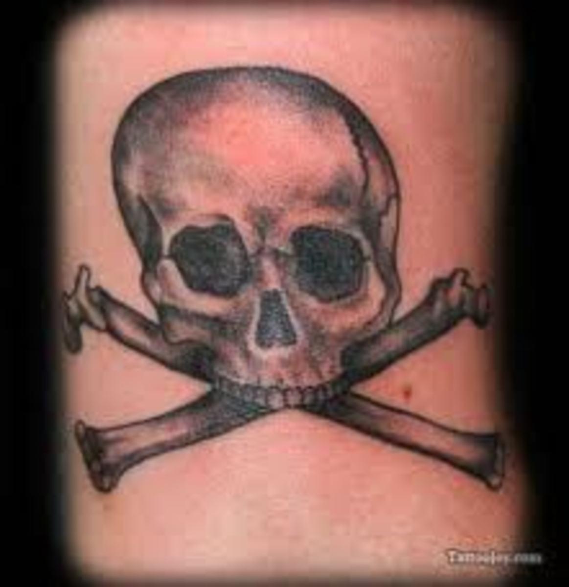 skull crossbone tattoos and meanings skull crossbone