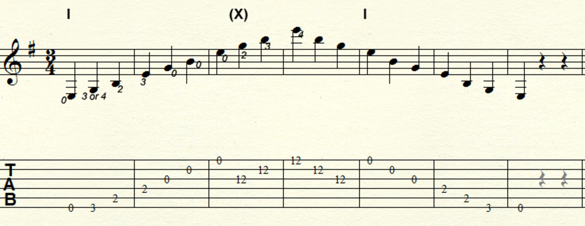 Minor arpeggio - Three octave fixed pattern in E minor