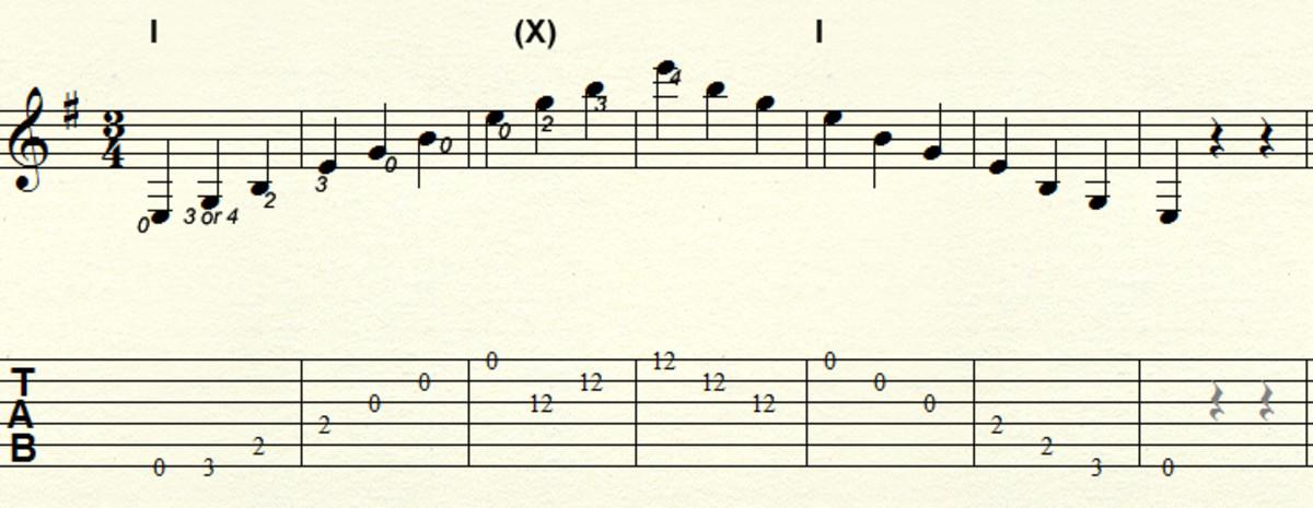 Minor arpeggio - Three octave fixed pattern in E minor