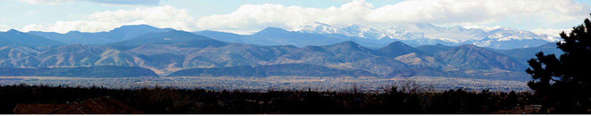 Panorama taken from Westlands Park in Greenwood Village, Colorado