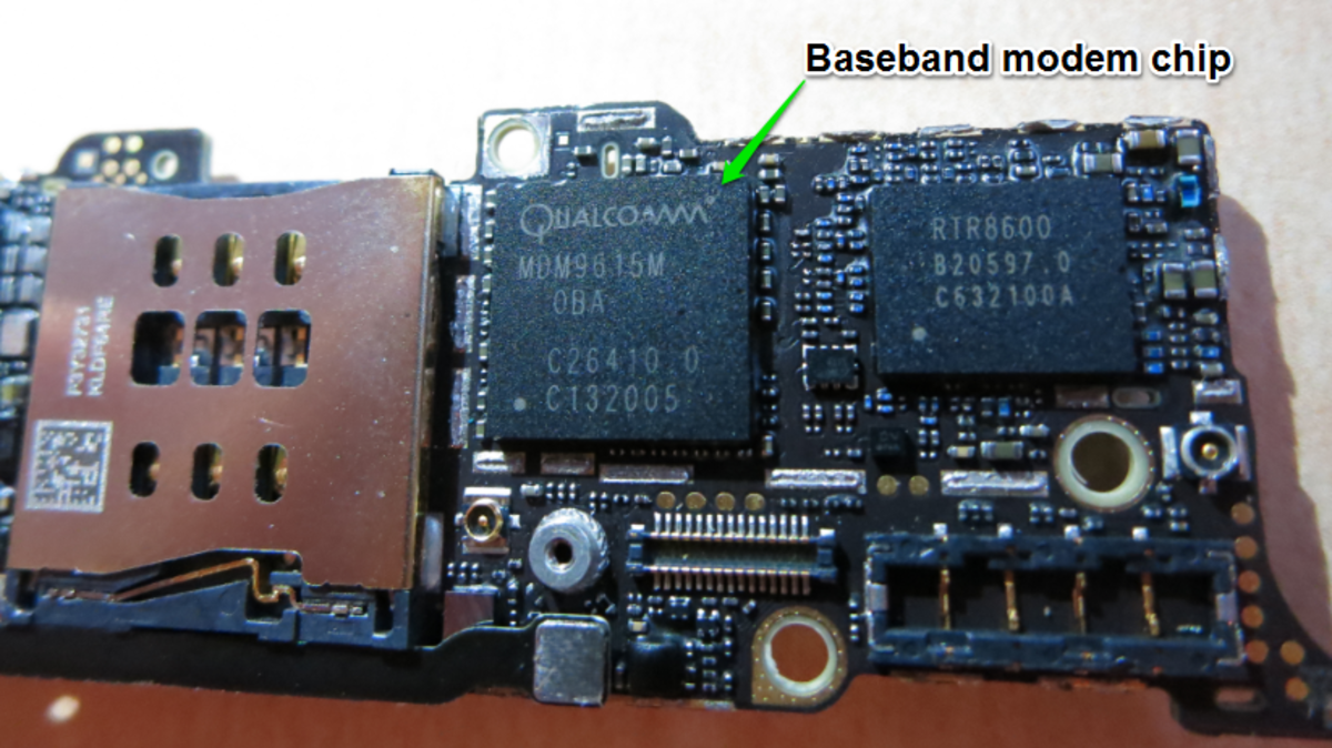 The Qualcom baseband modem chip in iPhone 5