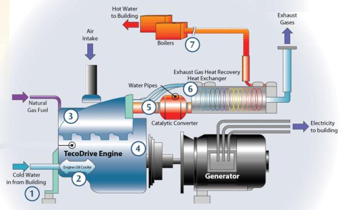 Cogeneration schematic.