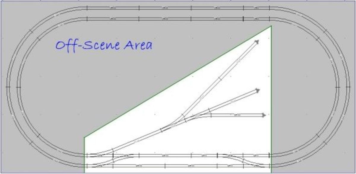 Peco N-80 2x4 Double Oval Layout Track Plan