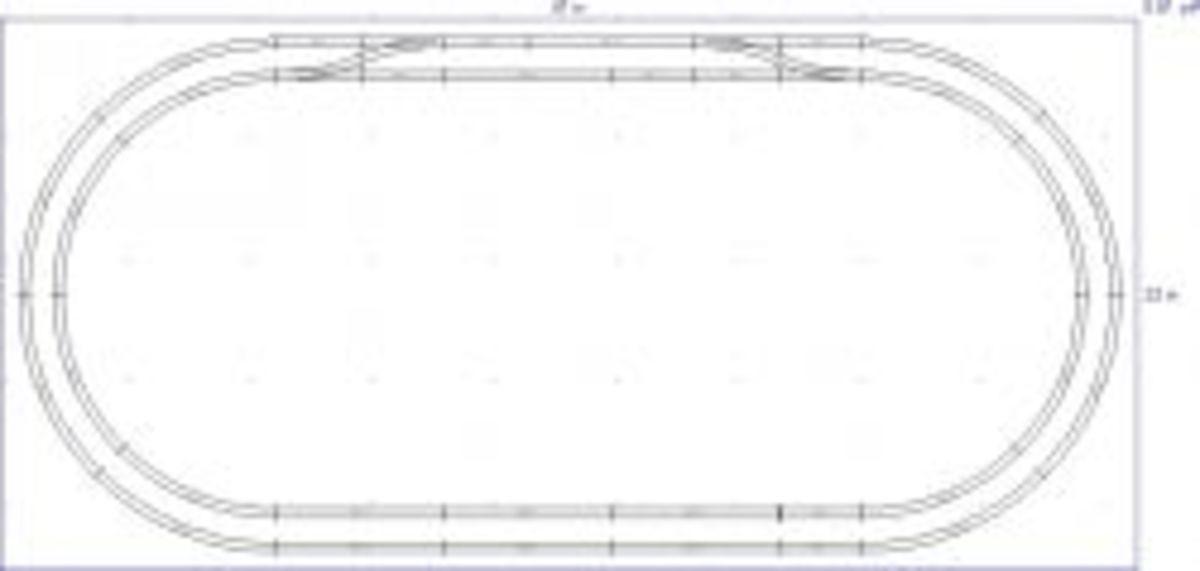 Peco N-80 2x4 Double Oval
