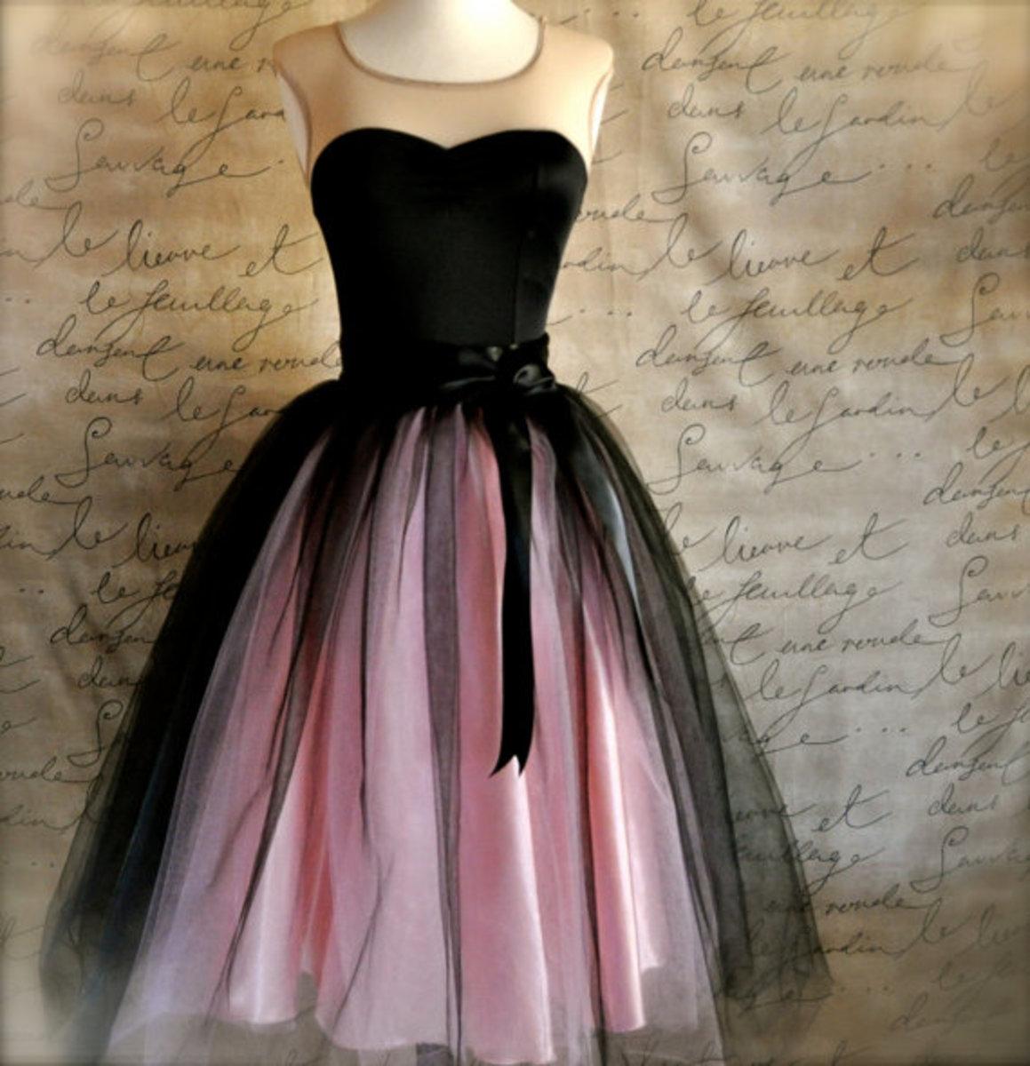 Diy tutu dresses for women black and pink tutu skirt
