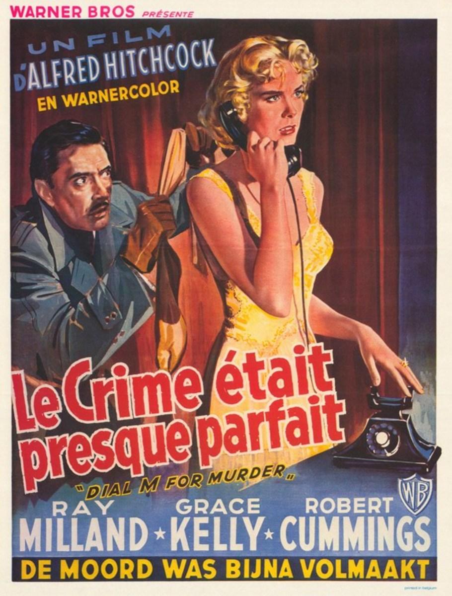 Dial M for Murder (1954) Belgian poster