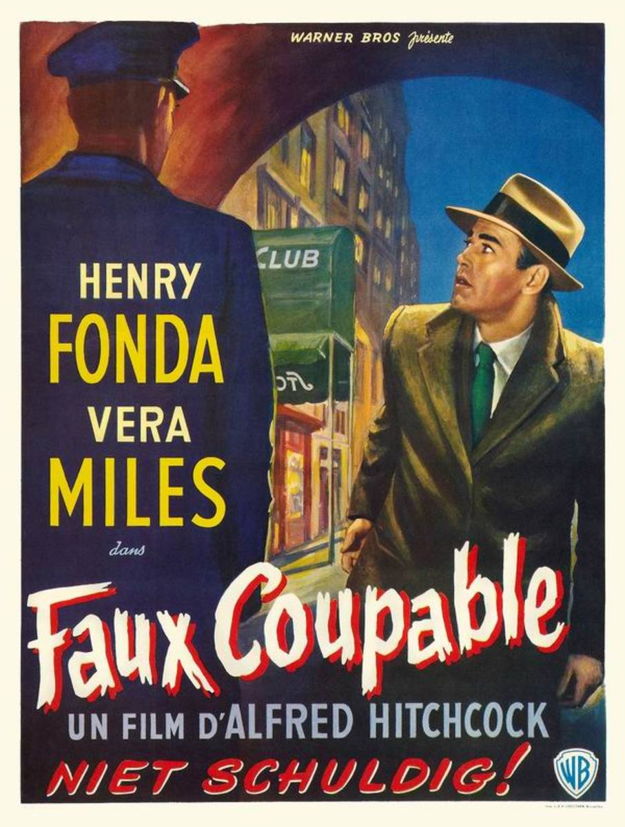 The Wrong Man (1956) Belgian poster