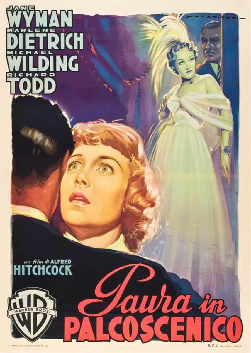 Stage Fright (1950) Italian poster art by Luigi Martinati