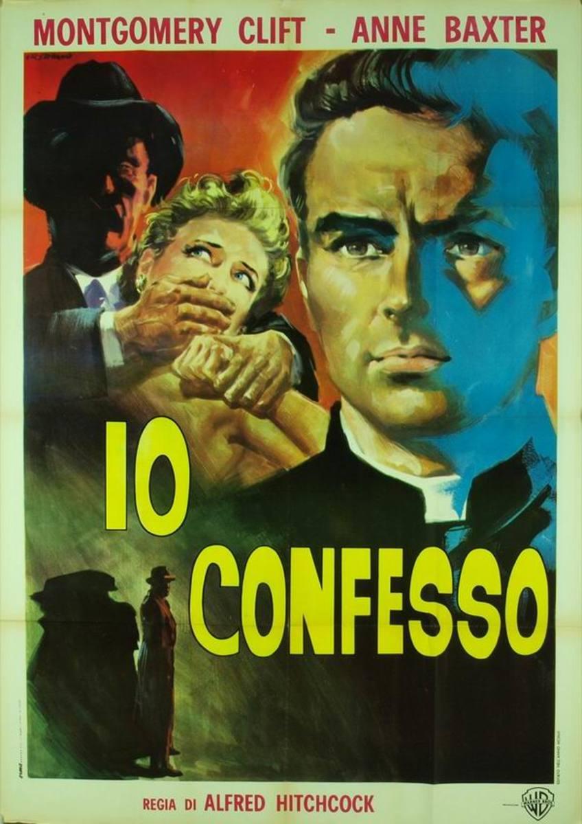 I Confess (1953) Italian poster