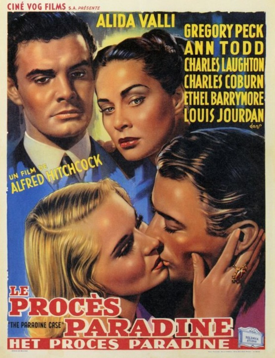 The Paradine Case (1947) Belgian poster