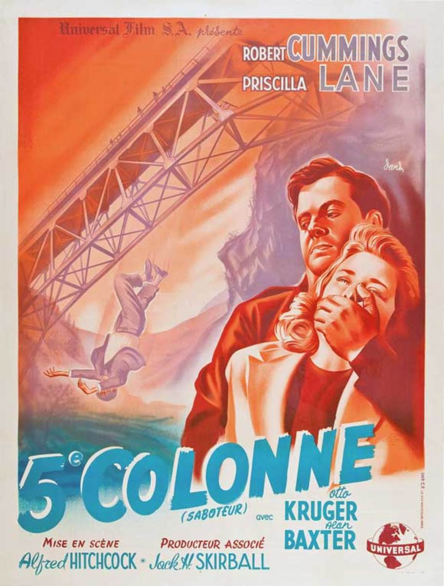 Saboteur (1942) French poster
