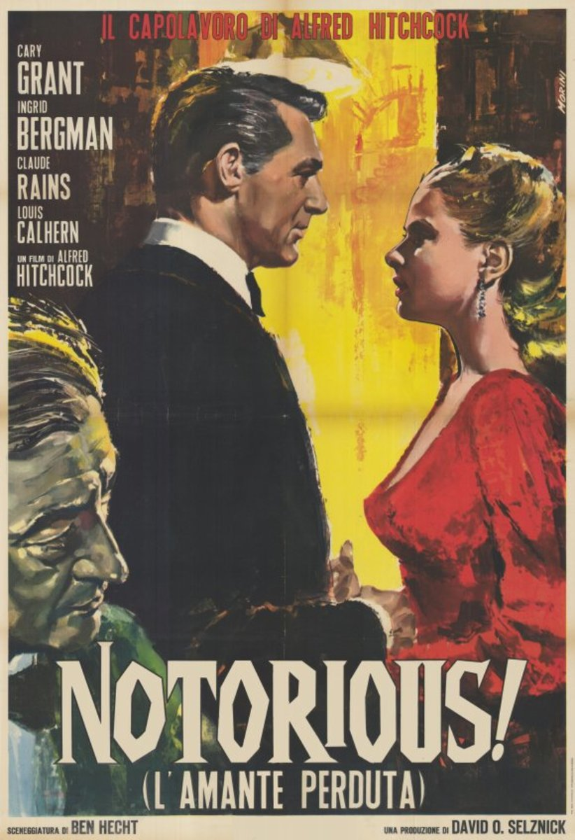 Notorious (1948) Italian poster