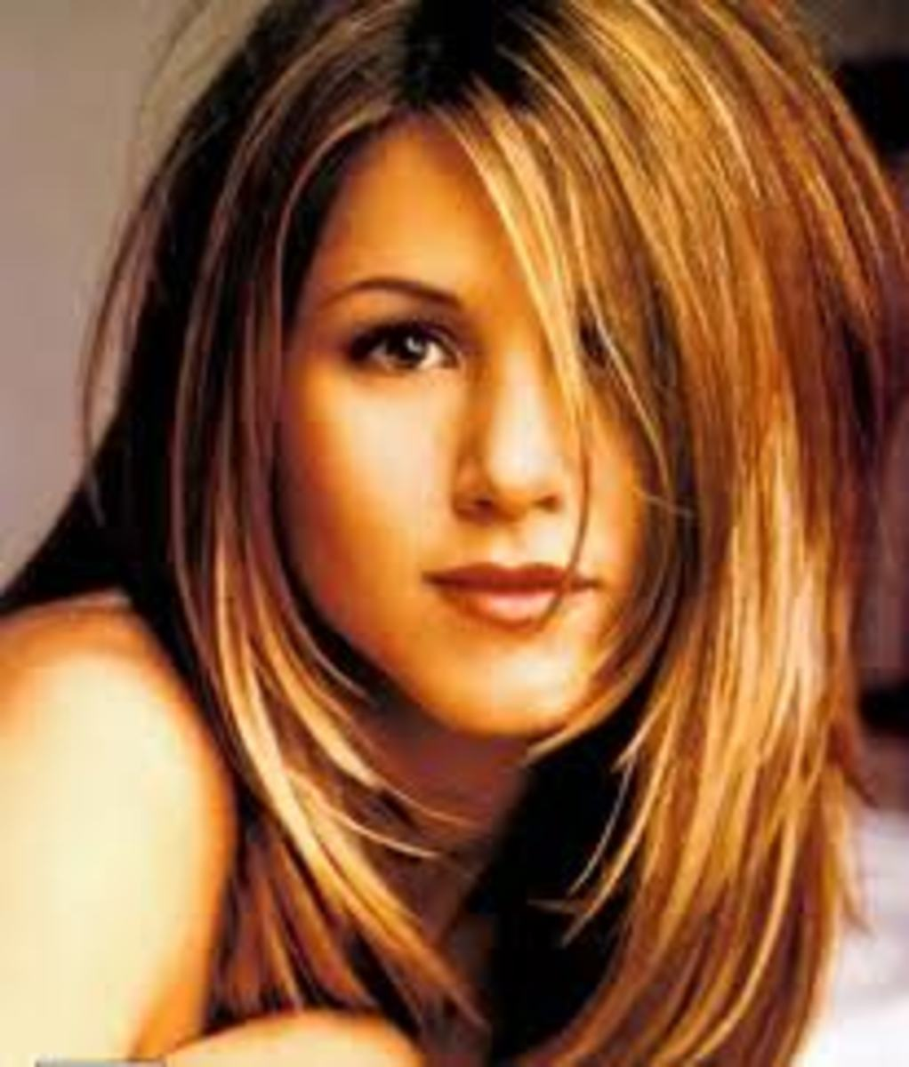 Jennifer Aniston with Strawberry Blonde Hair