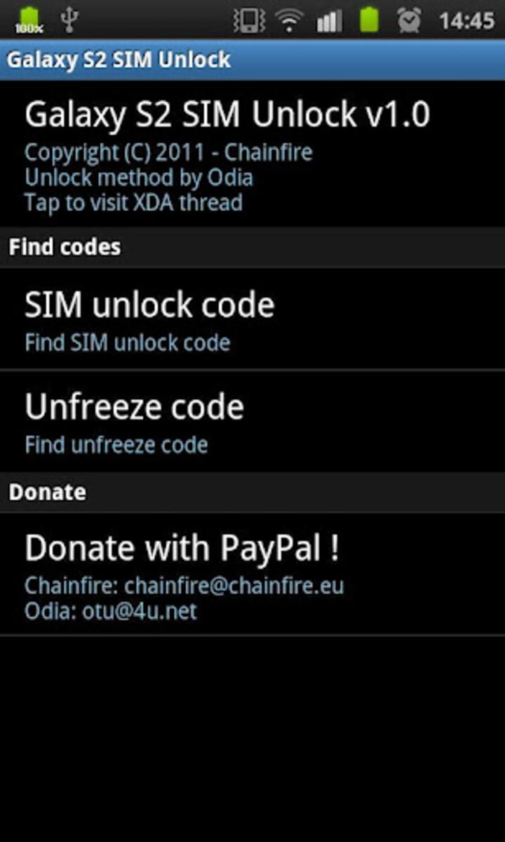 Galaxy S2 SIM Unlock