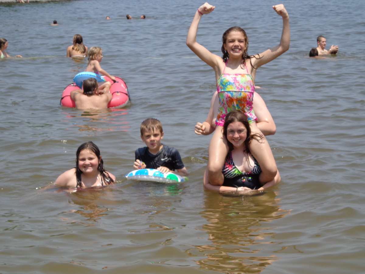 Swimming at Raystown Lake is fun for everyone