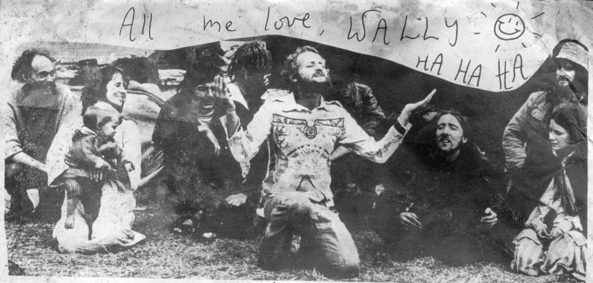 Phil Russell aka Wally Hope at Stonehenge 1974