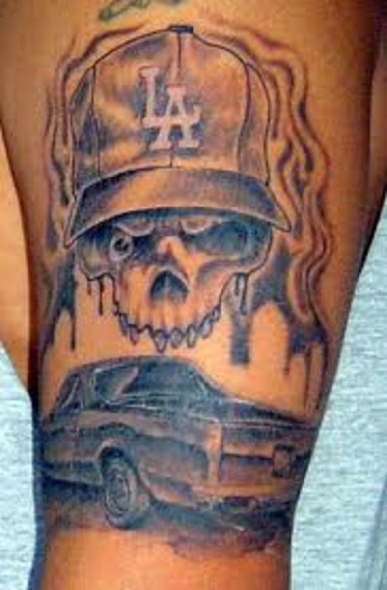 skull wearing hat tattoo designs hubpages. Black Bedroom Furniture Sets. Home Design Ideas