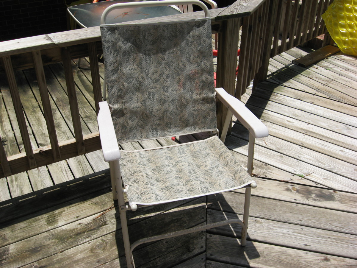 Lightweight folding chairs are easy to carry and set up.