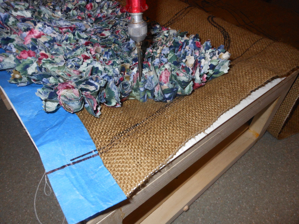 This is the fabric being prodded