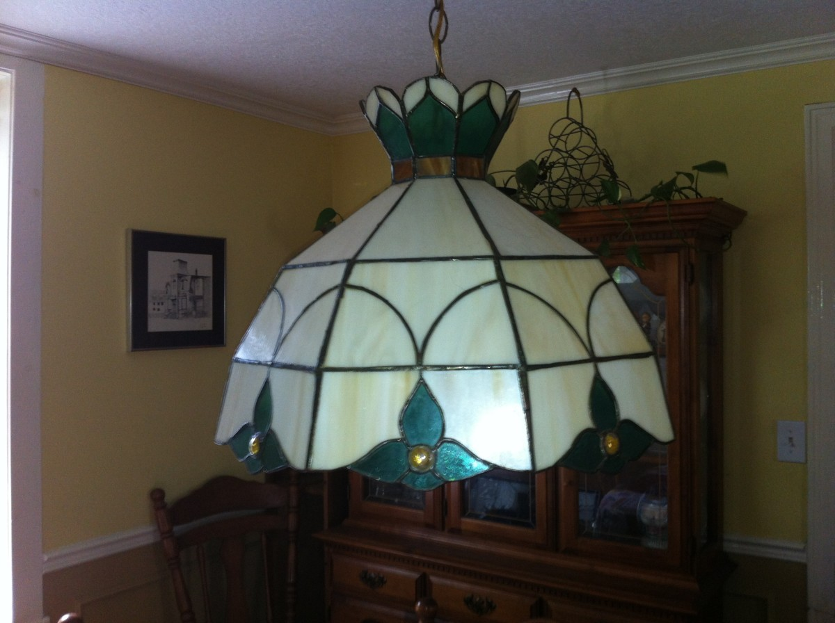 This lamp I made after attending six months of classes at a stained glass workshop.