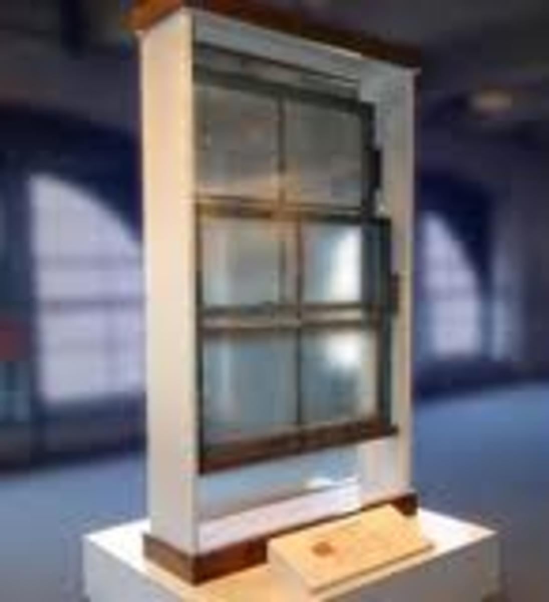 Pulled from the building, the window and frame that Lee Harvey Oswald used.