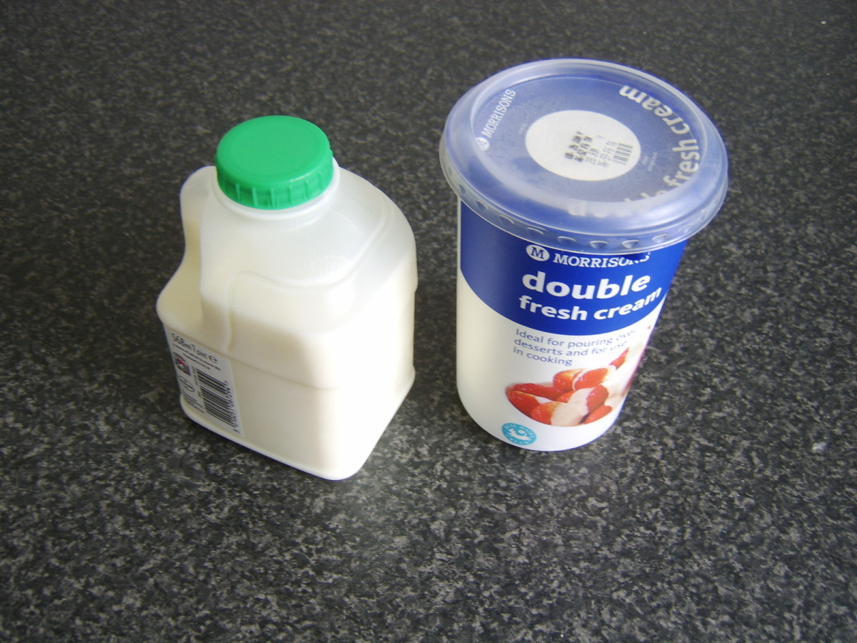 Milk and double/heavy cream