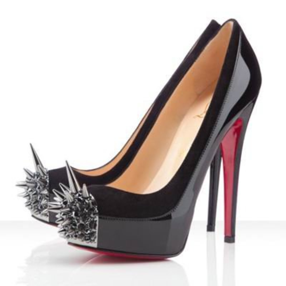 "Christian Louboutin ""Asteroid"" high heels with SPIKES sticking out of the toe!"