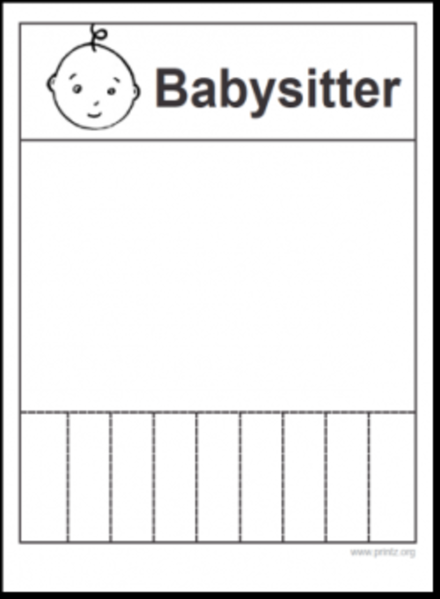 Easy Babysitting Flyers  Hubpages
