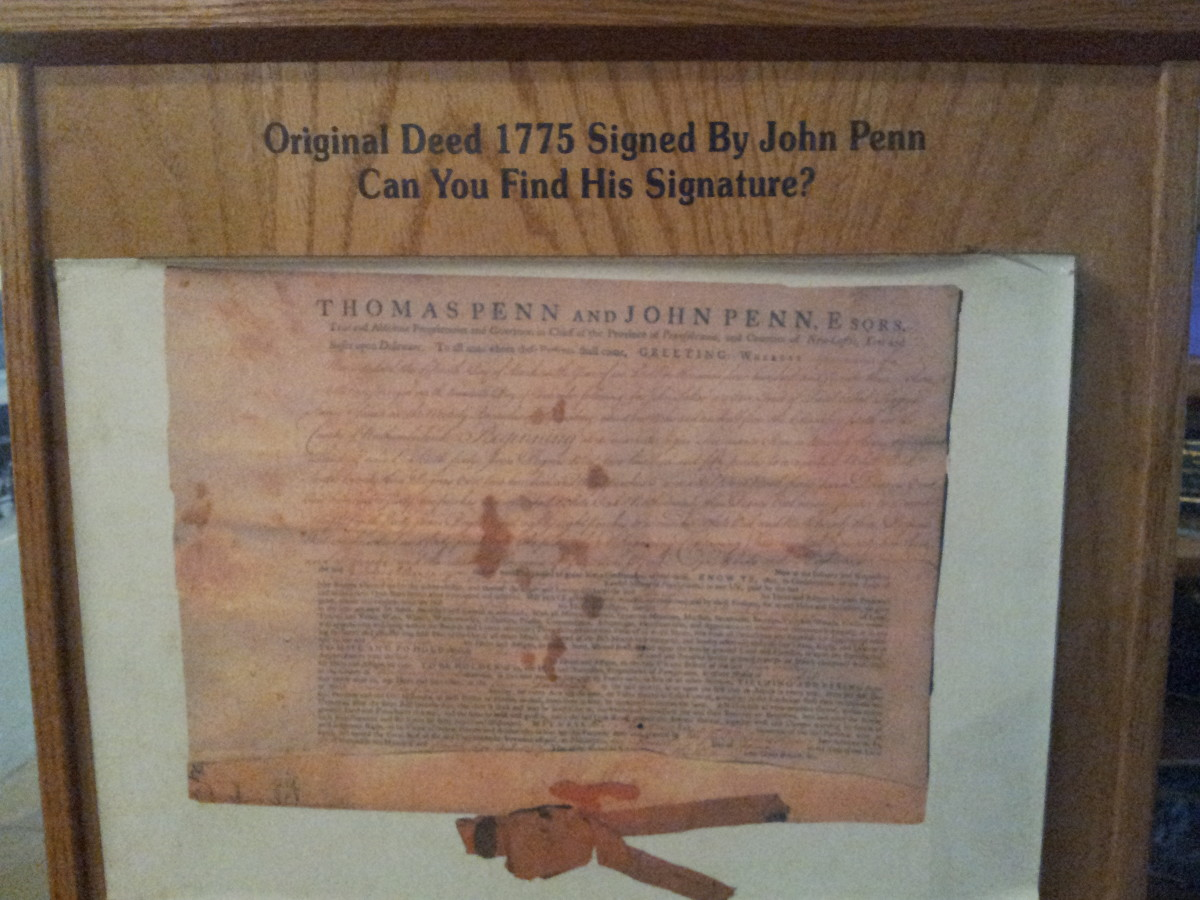 The deed to Knoebels from 1775.