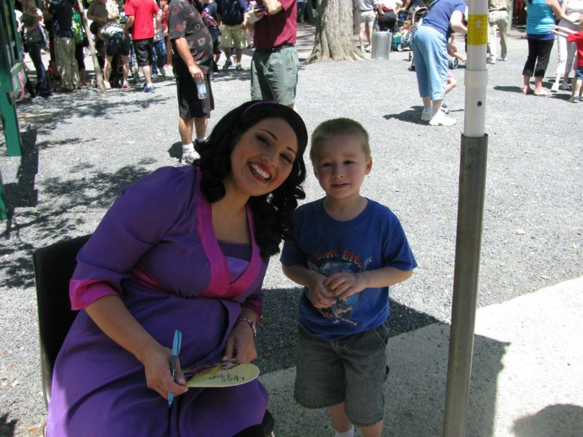 Meeting Miss Rosa from PBS Kids on WVIA Day at Knoebels