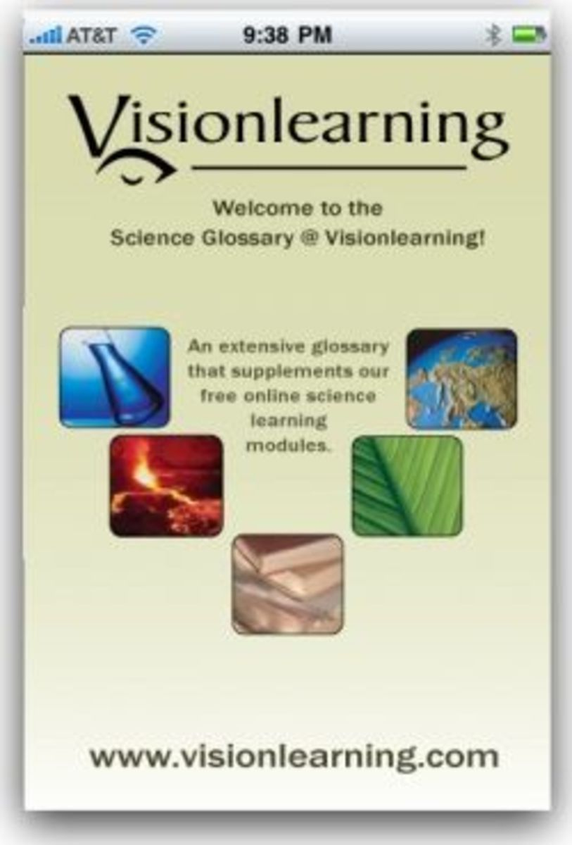 Science Glossary app for iPhone, iPad
