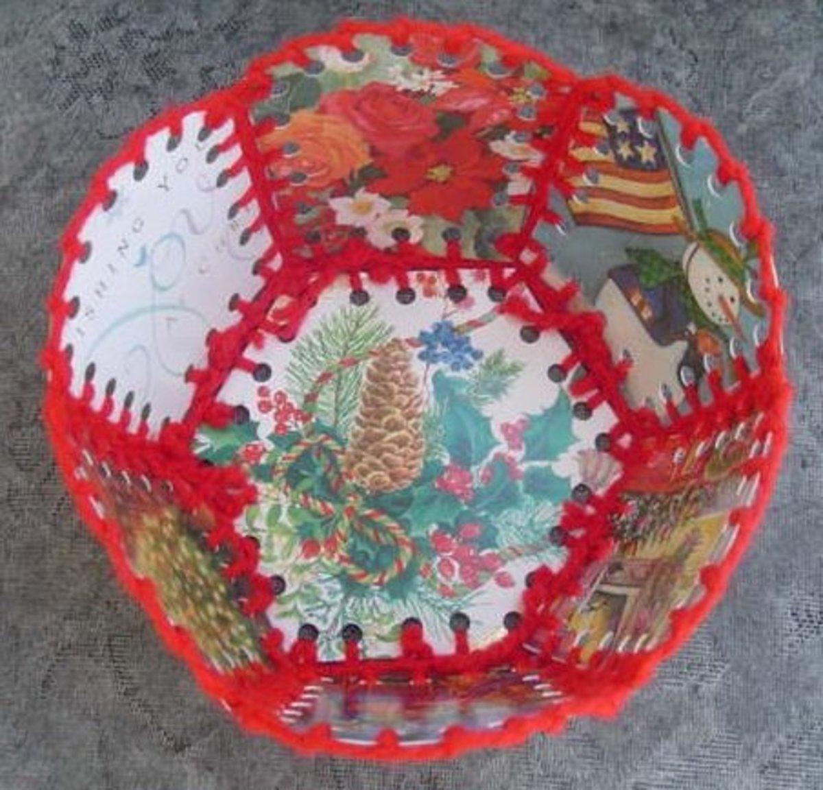 Bottom of Christmas basket