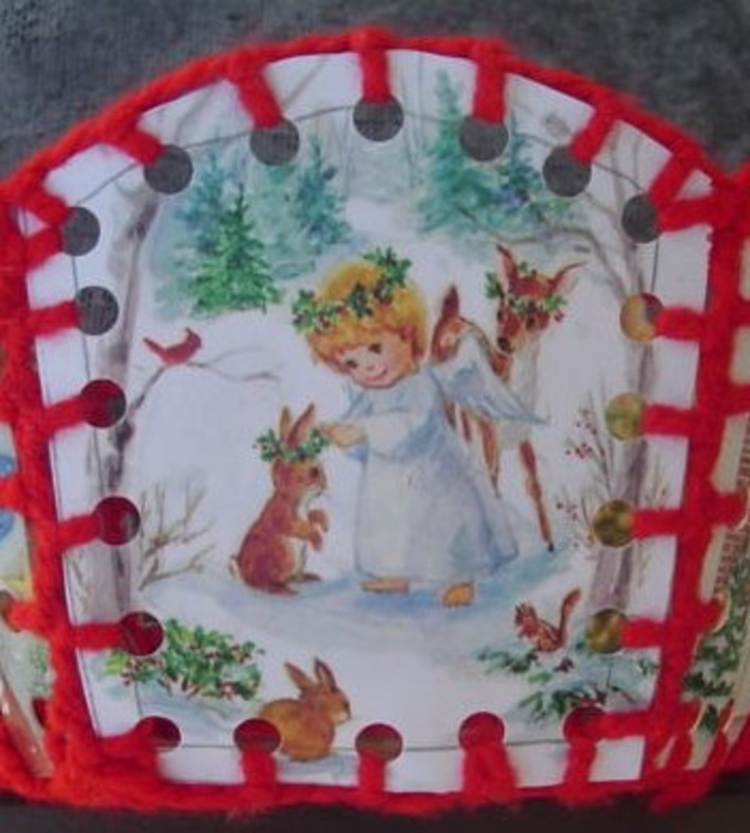 Side of Christmas basket