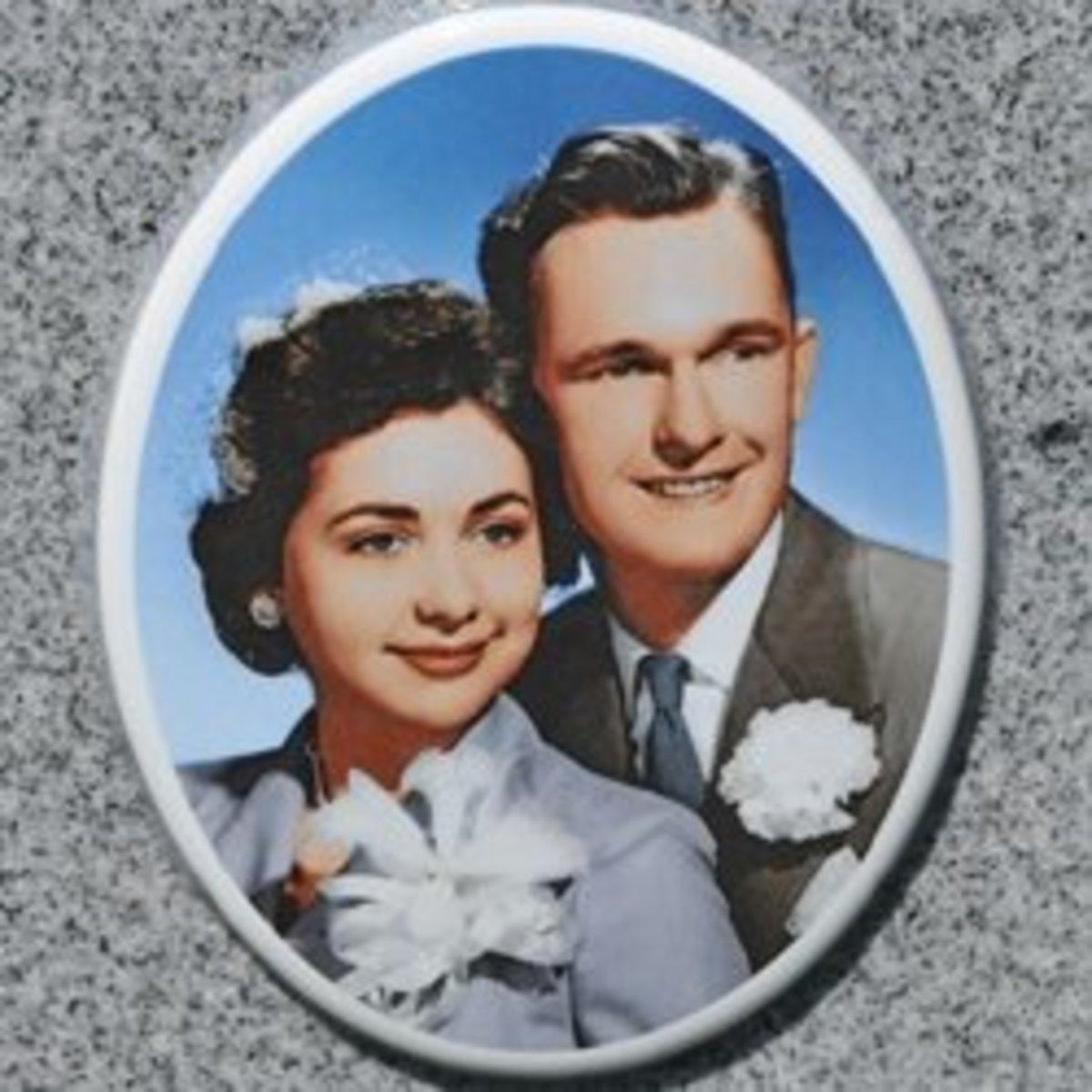 PhotoCeramic Memorial Tombstone Portraits A Window Into Our Past - Ceramic memorial photos