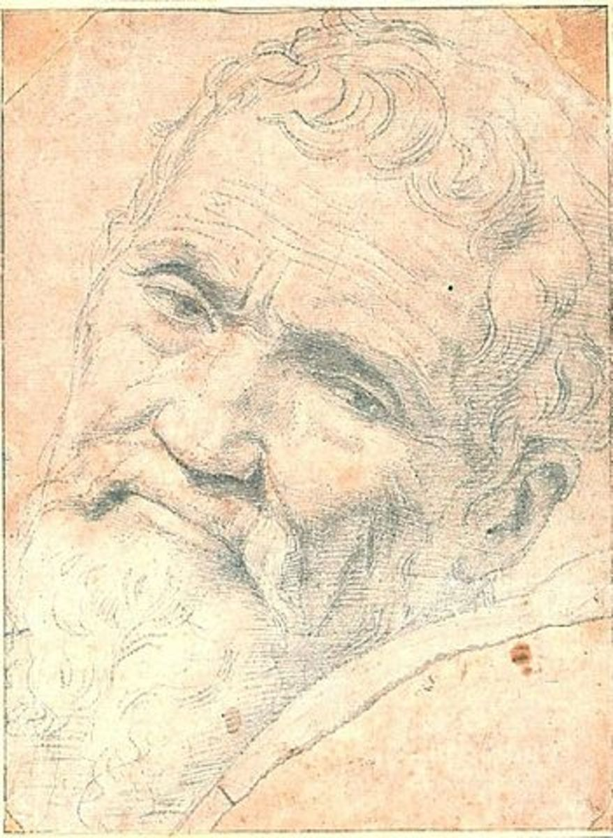 This is a special Portrait of Michelangelo by Daniele da Volterra.