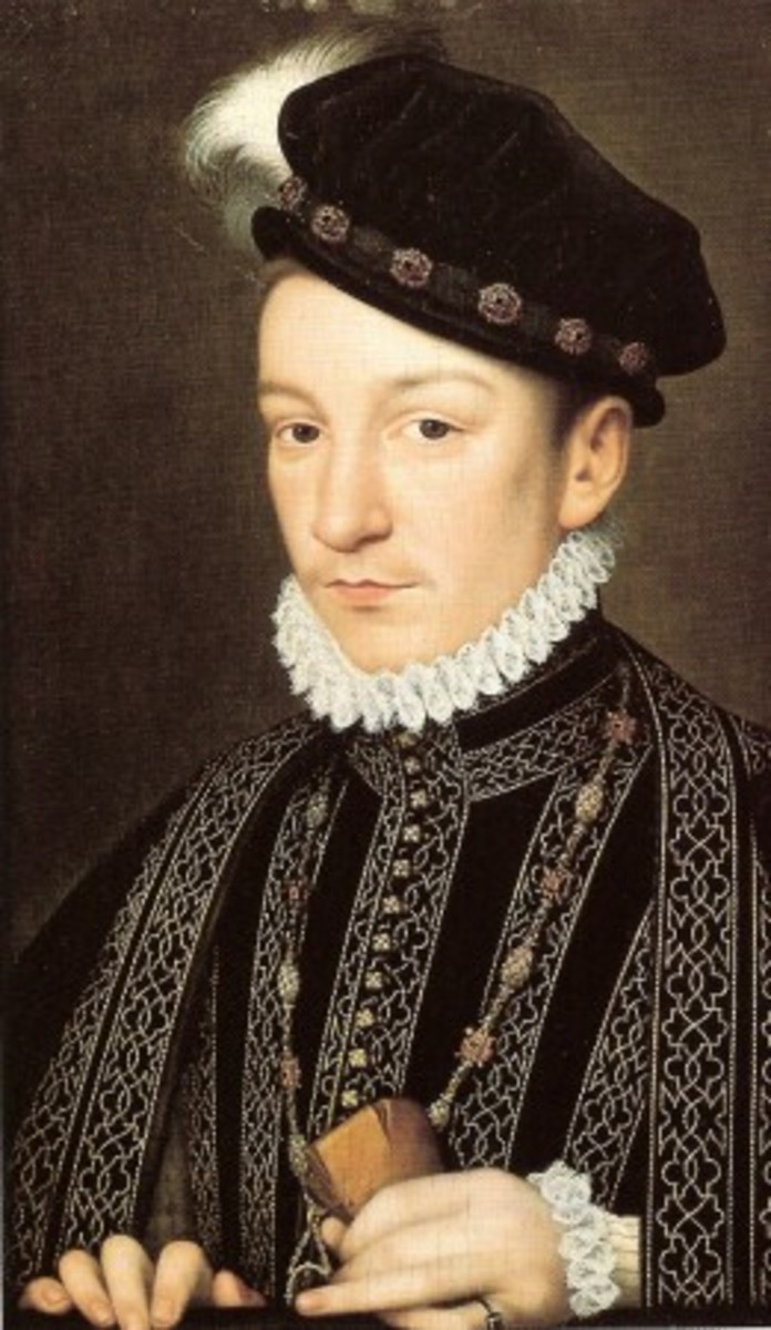 Portrait of King Charles IX of France.