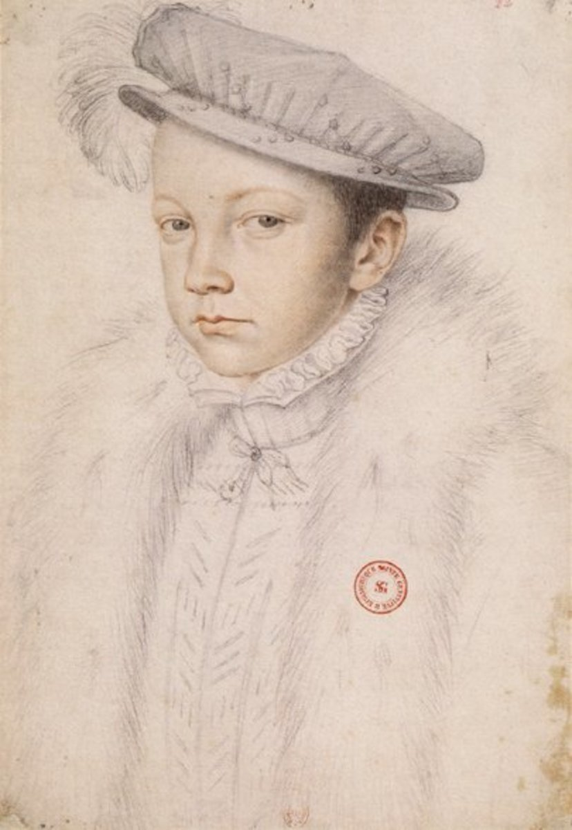 Portrait of King Francis II of France.