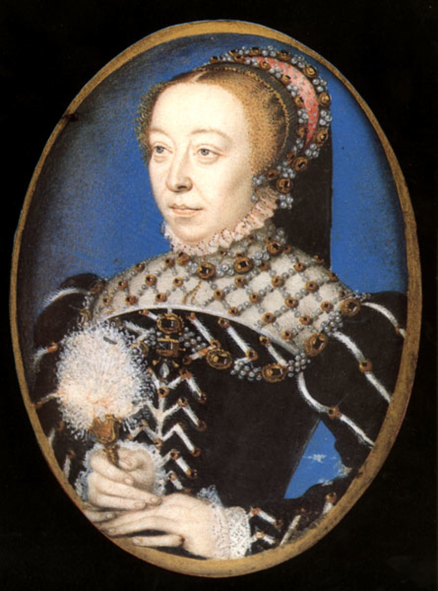 Portrait of Catherine de' Medici at the French court.