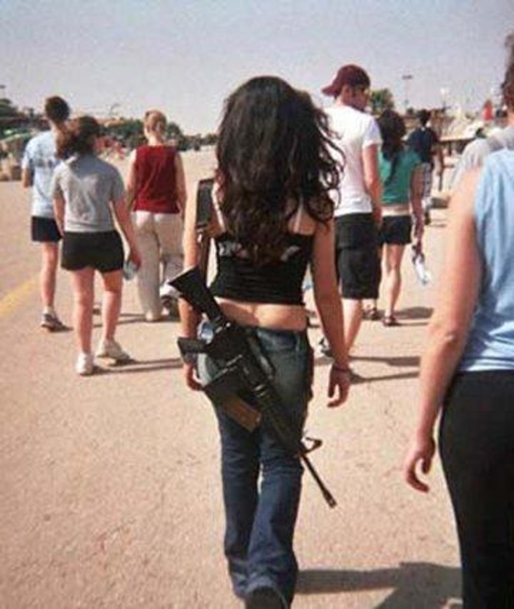 Israeli girl soldier