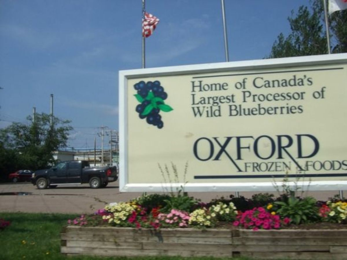 Oxford Frozen Foods is a major employer in this town.