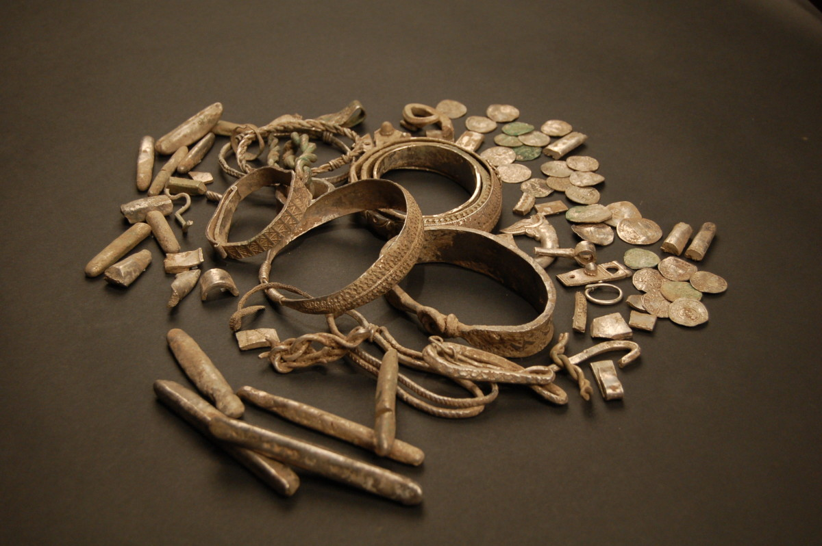 The Silverdale hoard, Viking treasure found near Lancaster in the north-west of England