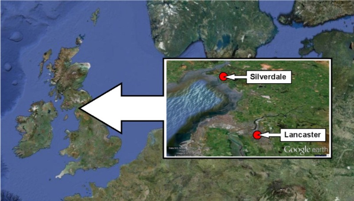 Location of Silverdale near Lancaster and its position relative to Scandinavia (top of picture above inset). The likelihood is those who buried it had come from across the Irish Sea