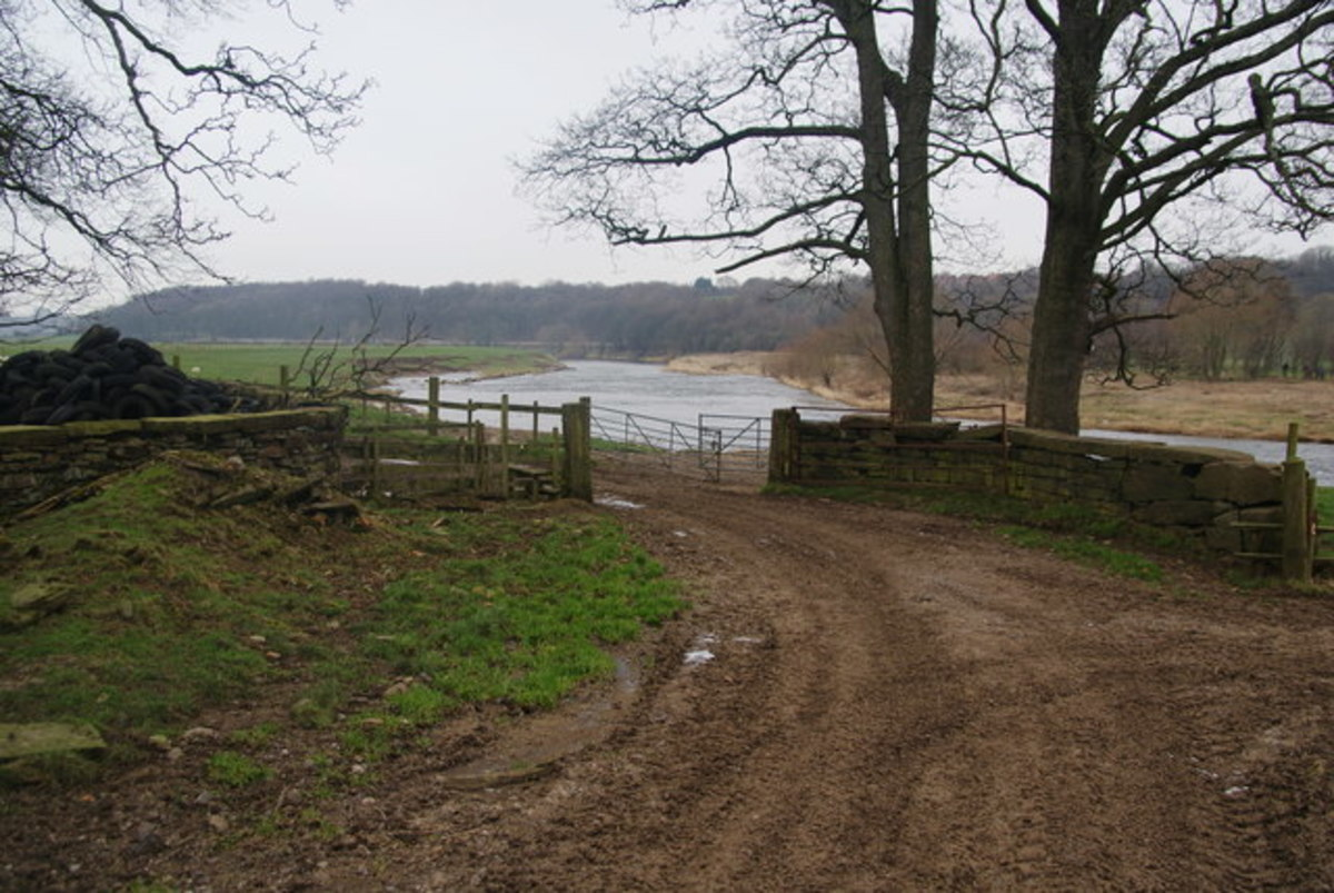 The Ribble meanders near Cuerdale Hall Farm near where the hoard was found