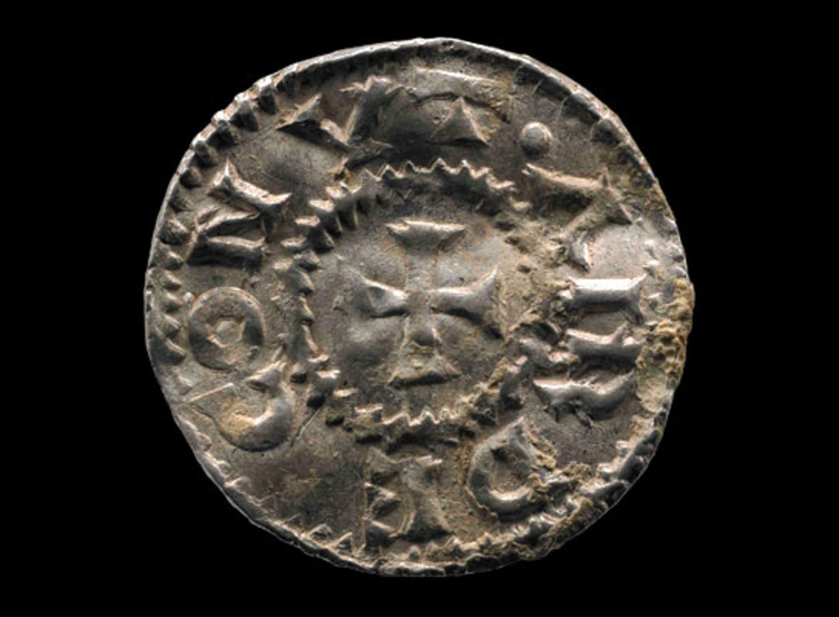 'Airdeconut' coin - this is a rare find. The name is in fact Harthaknut, son of Knut 'the Great' by Aethelred's widow, the Norman Ymme or Emma.